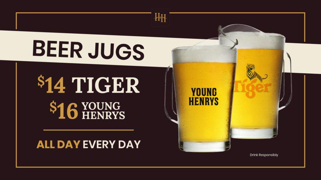 Beer jugs promotion